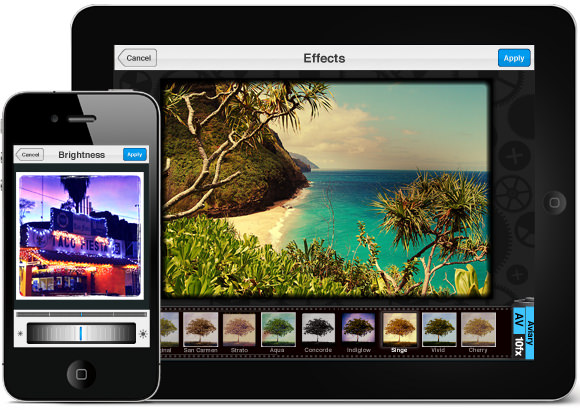 Pantallas de Aviary en iPhone y iPad