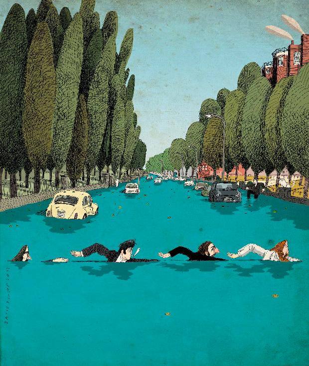 Viñeta The Beatles por David Pintor