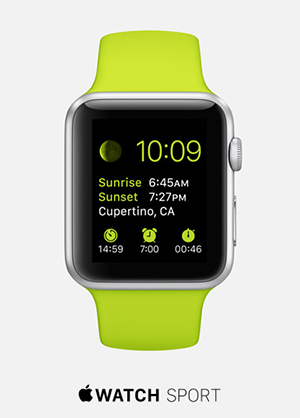 tipografía Apple Watch