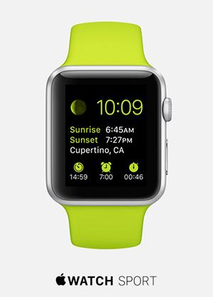 tipografía Apple Watch