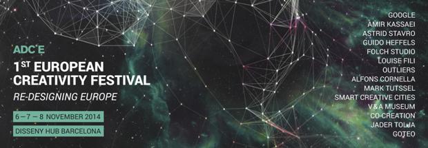 ADC Europe Re-diseñando Europa, eje central del 1st European Creativity Festival