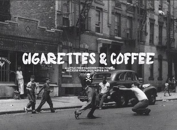 Cigarretes & Coffee – tipografía gratuita en caja alta
