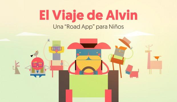 El viaje de Alvin, la road app para niños