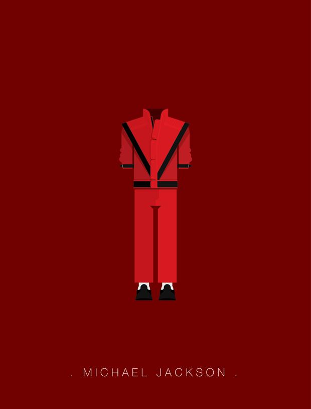 La vestimenta del rock ilustrada – Michael Jackson