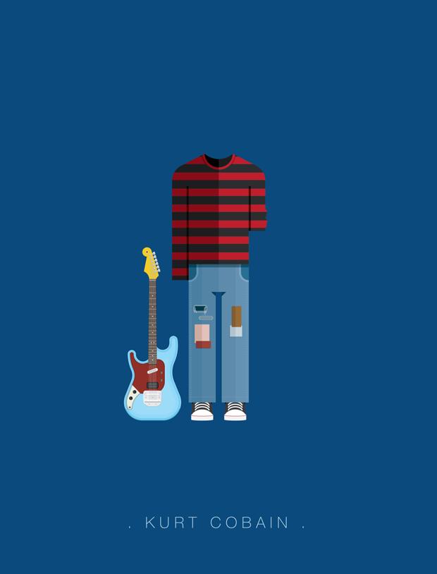 La vestimenta del rock ilustrada –  Kurt Cobain