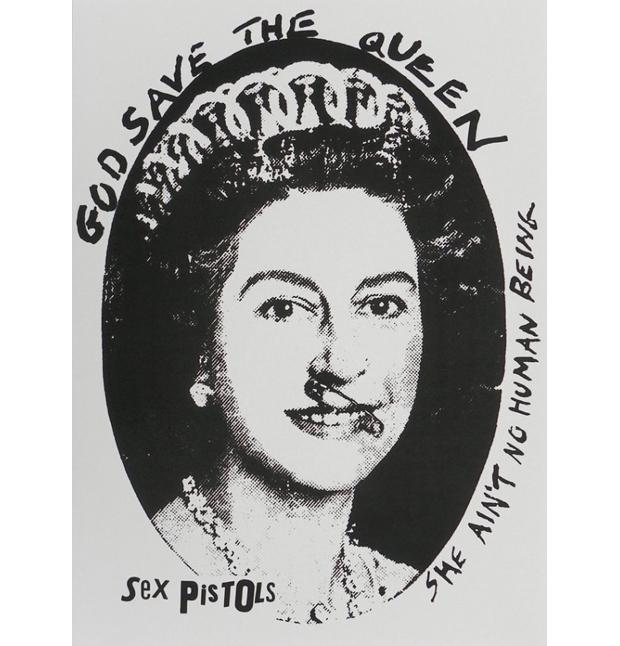 God Save the Queen diseño de Jamie Reid