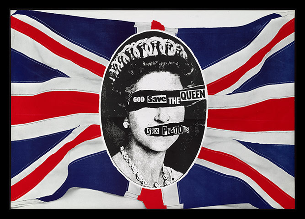 Jamie Reid material promocional de God Seve the Queen