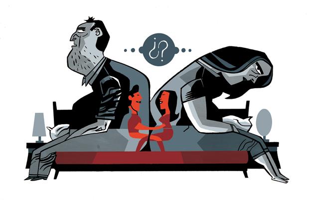 Javier Olivares – ilustración 'matrimonio' para El País