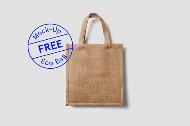 MockUp gratuito de bolsa textil ecológica