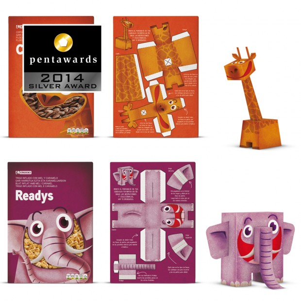Pentawards – SUPPERSTUDIO packaging cereales  Eroski