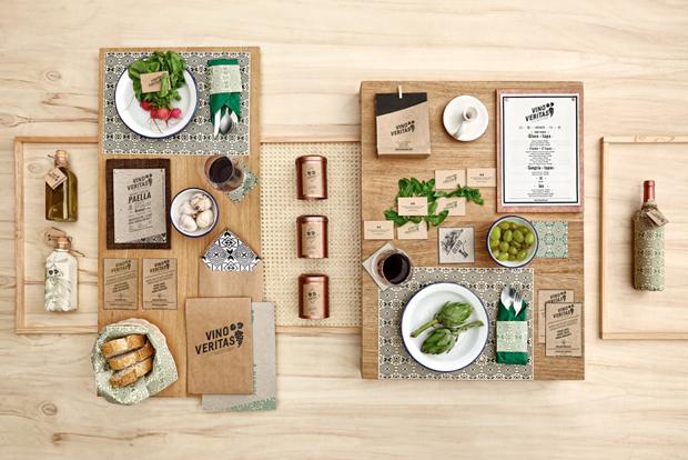 Vino Veritas Oslo – identidad gráfica y diseño de interiores de Masquespacio