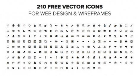 210 iconos vectoriales gratis