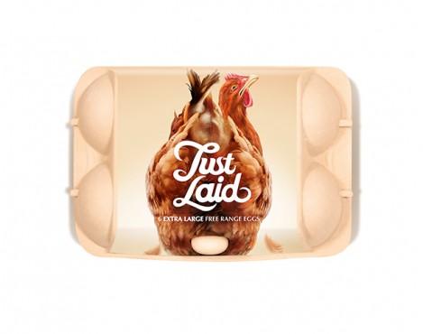 Just Laid, un packaging que reconocerás 'por huevos'
