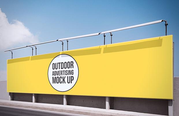 Mock-up gratuito de publicidad exterior