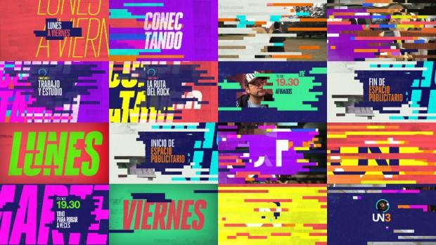 El ruido y el error, conceptos del nuevo branding diseñado por Vácolo para UN3 TV