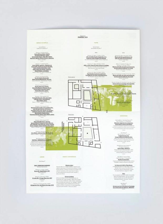 folletos programación trimestral La Nau diseñados por el estudio Ibán más Dídac