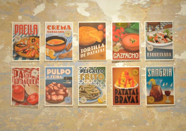 Recipes postcards – recetas tradicionales ilustradas con inspiración vintage