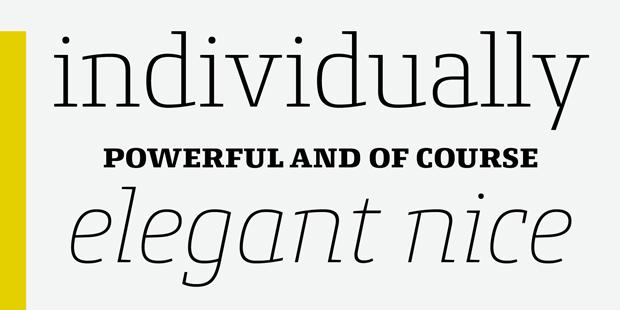 Conto Slab, tipografía slab serif para uso editorial e identidad corporativa