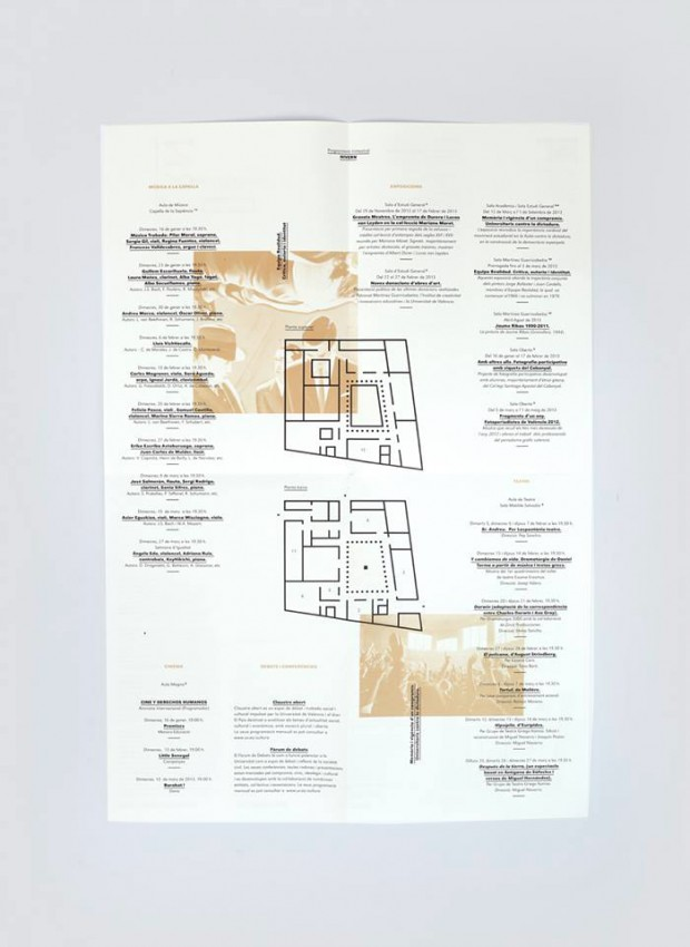 folletos programación trimestral La Nau diseñados por Ibán más Dídac