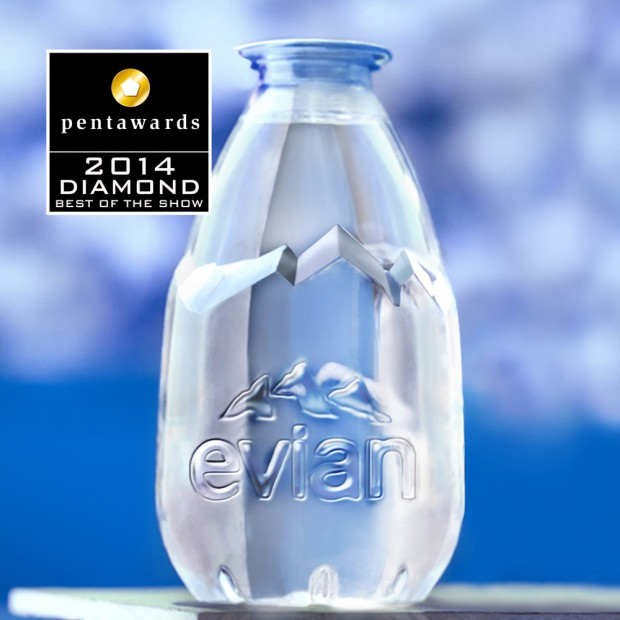 Evian Drop obtiene el único Diamond Pentaward 2014 por su innovador packaging – Pentawards 2014