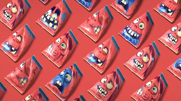 Zombís, un packaging para morirse de risa