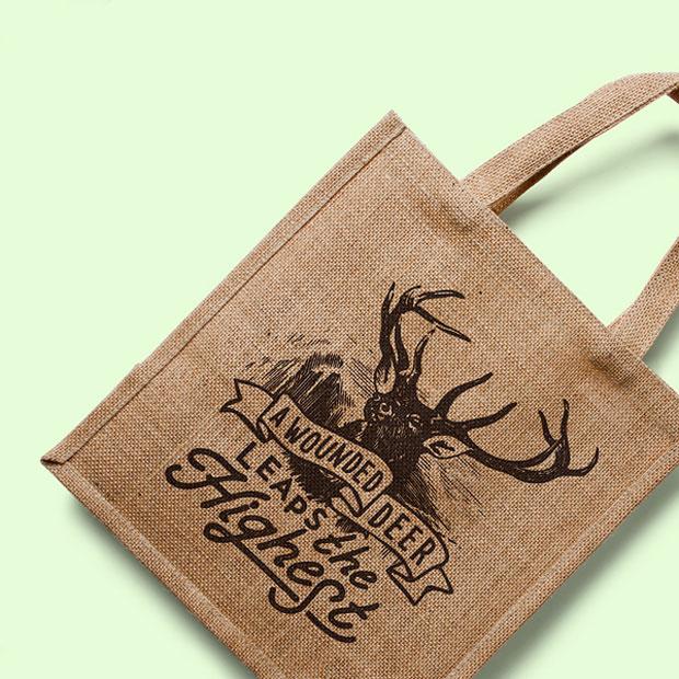 Prototipo en PSD gratuito de eco-bolsa textil