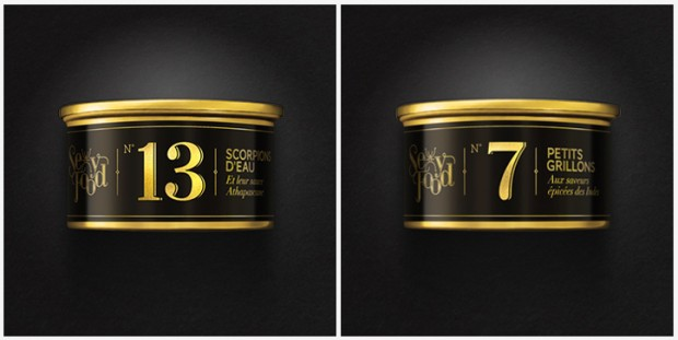 SexyFood logo de marca de alimentos para insectívoros