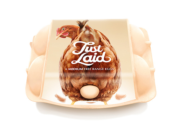 Just Laid, un packaging que reconocerás 'por huevos'