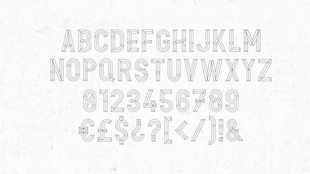 Optilus, tipografía de Toormix disponible en Hype for Type