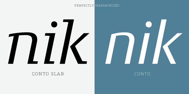 tipografía slab serif de Nils Thomsen