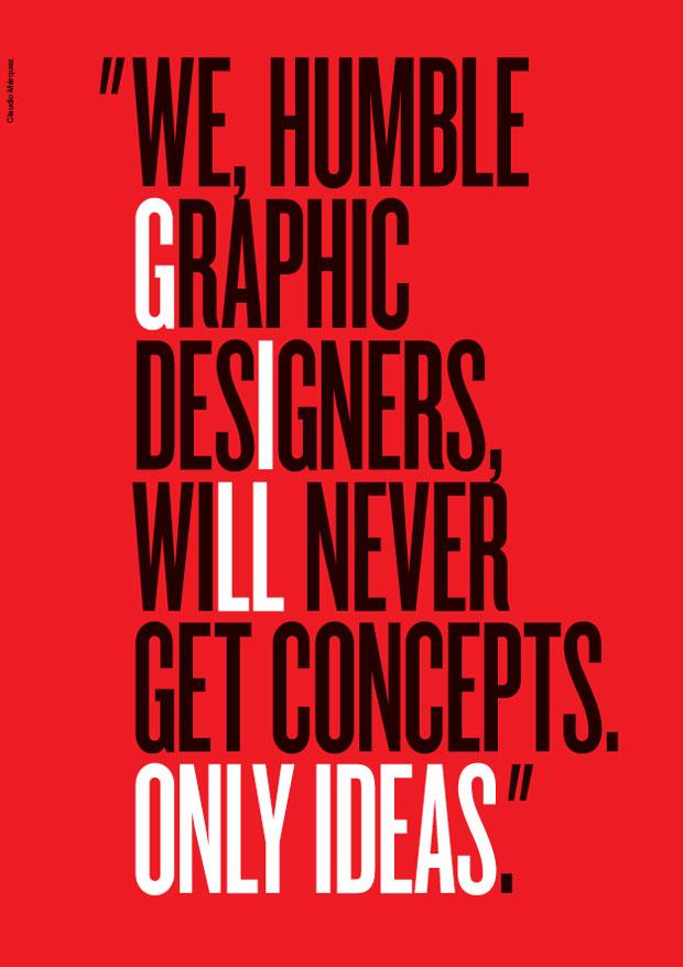 cartel de Claudio Márquez tributo al diseñador Bob Gill
