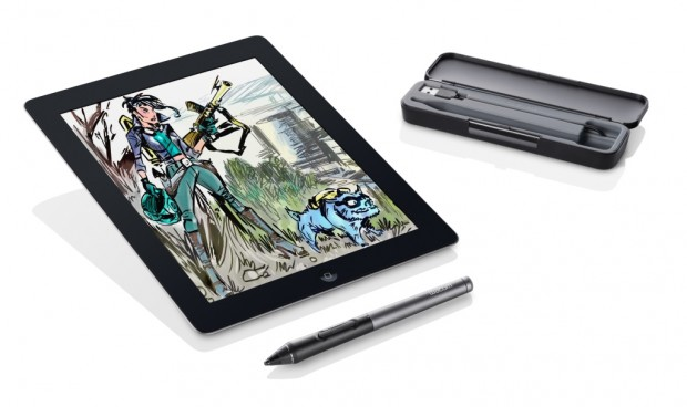 lápices digitales – intuos creative stylus 2_with ipad 2