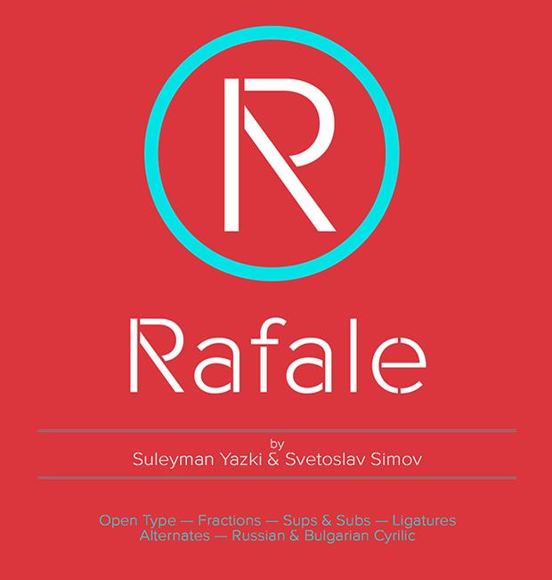 Rafale, tipografía stencil