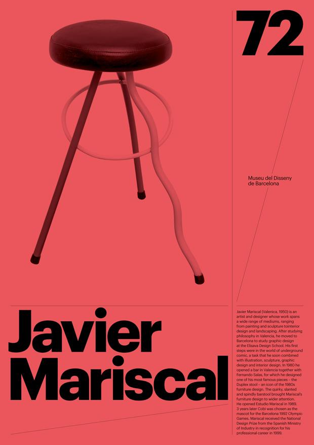 Carteles diseñados por Atlas para el Museu del Disseny de Barcelona