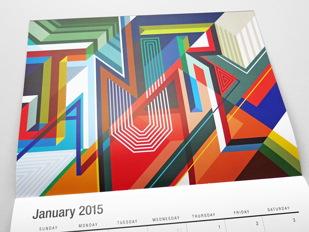 Calendario 2015 'vectorfunk', un juego tipográfico y experimental de Matt W. Moore