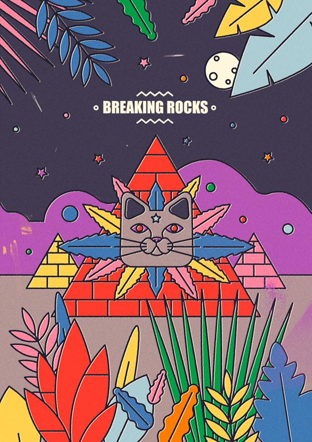 David Pocull - ilustración Breaking Rock