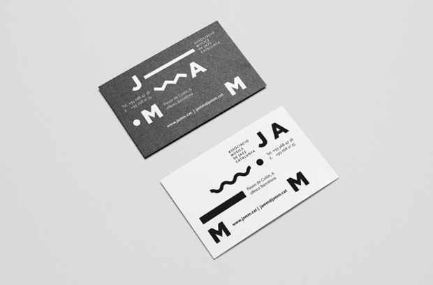 Tarjetas de visita – Jamm es un proyecto de identidad gráfica para la Asociación de Músicos de Jazz de Cataluña diseñado por Edu Torres Pérez
