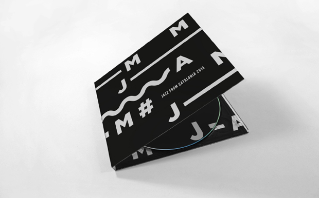 CD proyecto de identidad gráfica para la Asociación de Músicos de Jazz de Cataluña diseñado por Edu Torres Pérez