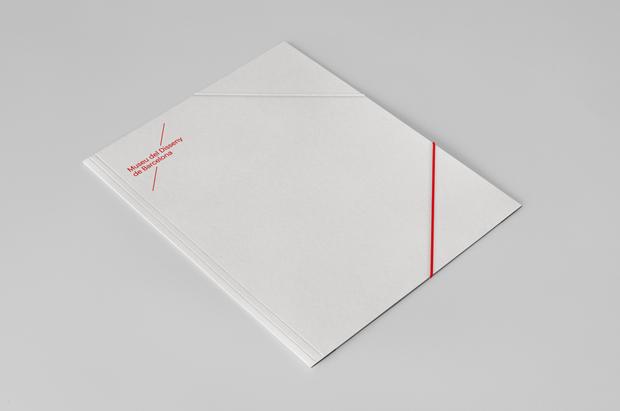 diseño de papelería corporativa Museu del Disseny de Barcelona