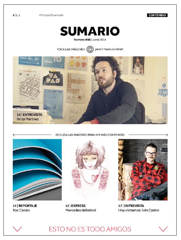 Muster Magazine,  la 1ª revista para iPad sobre diseño gráfico