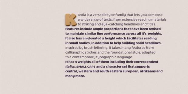 Kardia, tipografía de inspiración ultra black y el brush lettering