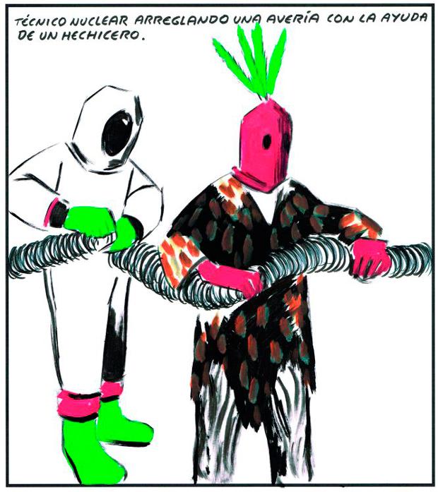 viñeta de El Libro Verde de Andrés Rábago publicado por Reservoir Books