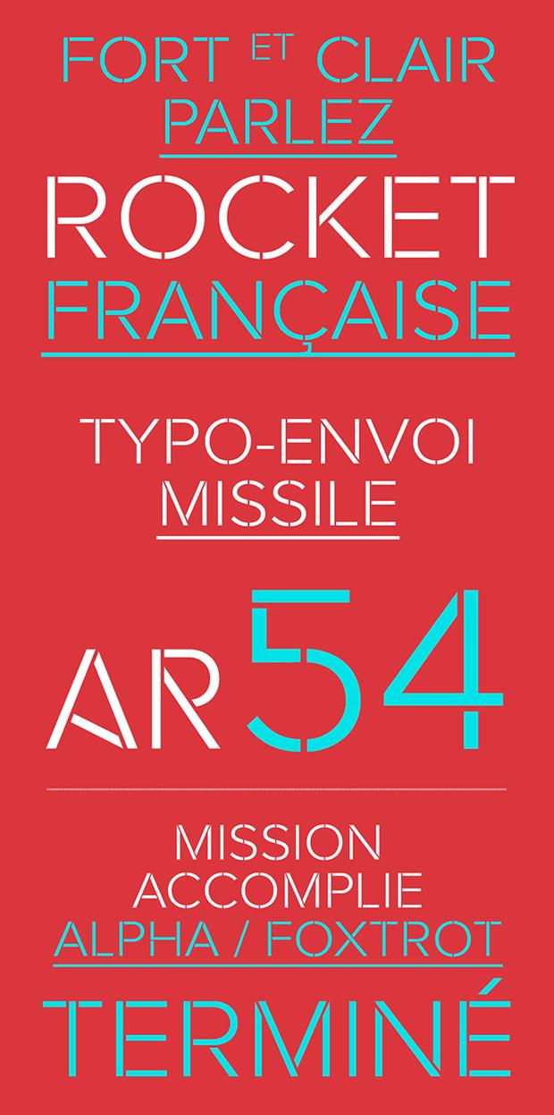 Rafale, tipografía stencil gratuita