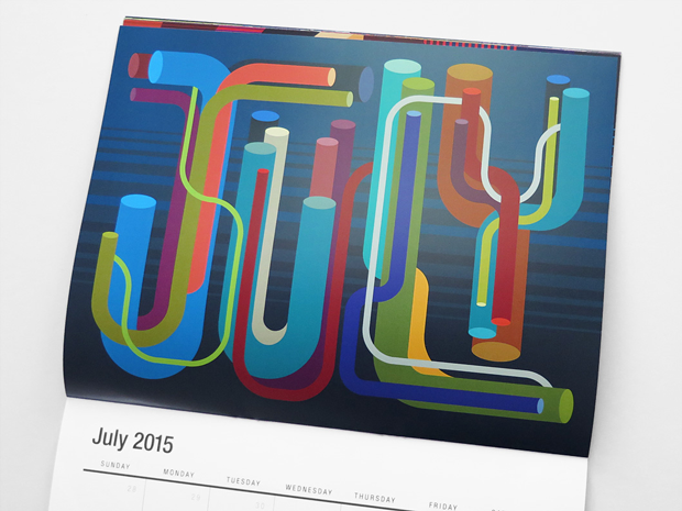 calendario vectorfunk de Matt W. Moore