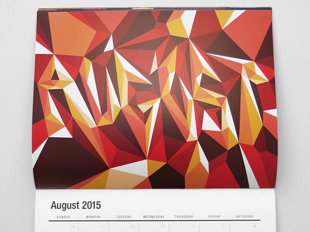 agosto – calendario vectorfunk de Matt W. Moore