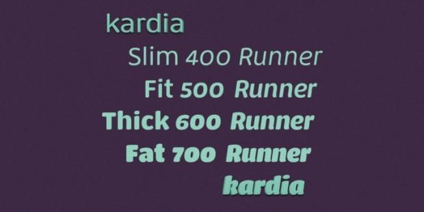 Kardia, tipografía de inspiración ultra black, pero apta para titulares y textos pequeños