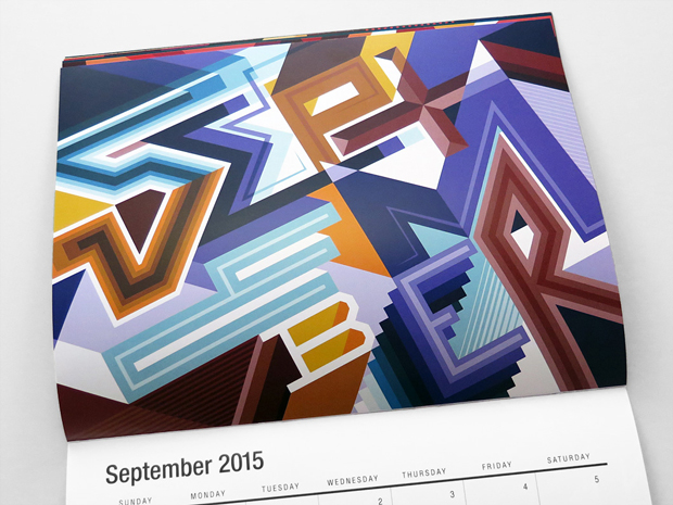 septiembre, calendario ilustrado