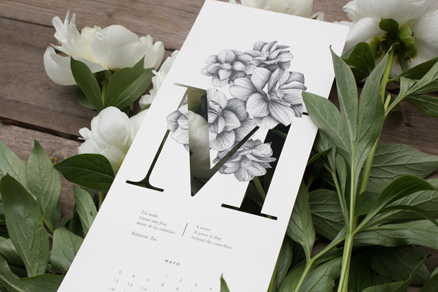 Calendario ilustrado con 12 haikus por Carla Cascales Alimbau