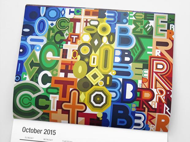 octubre – calendario ilustrado