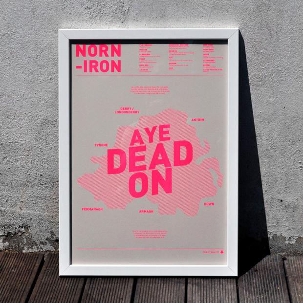 Cartel impreso con risografía